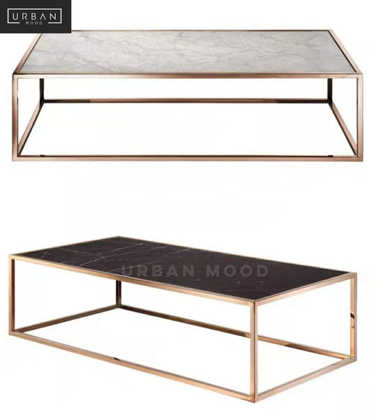 BLANCHE Modern Rose Gold Coffee Table