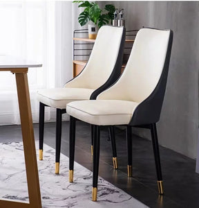 BRONTE Classic Faux Leather Dining Chair