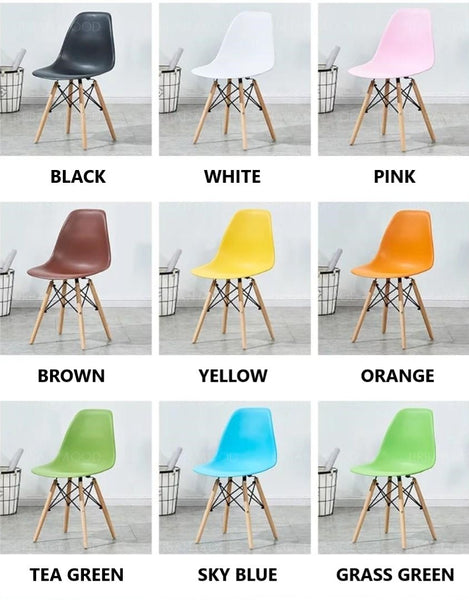 CADMAN Scandinavian Wood Dining Office Chairs