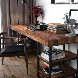 CELENA Modern Industrial Solid Wood Office Table