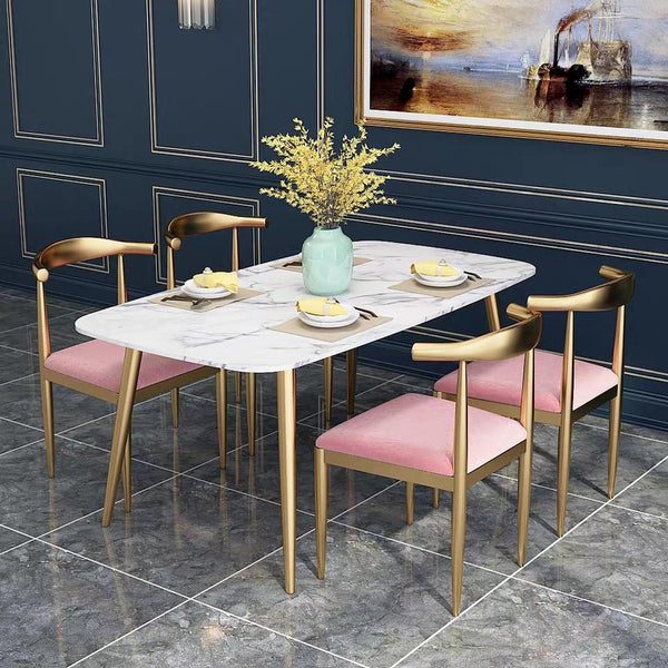 CHEYENNE Chrome Gold Dining Chairs
