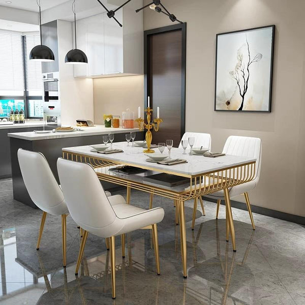 CLAIRE Modern Marble Dining Table