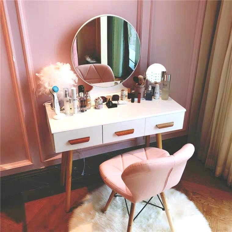 CLEO Vanity Mirror Table Set