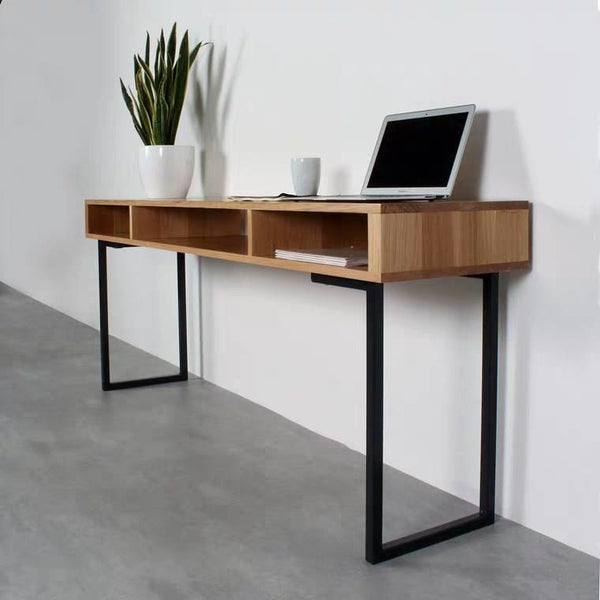 CORY Modern Industrial Solid Wood Study Table