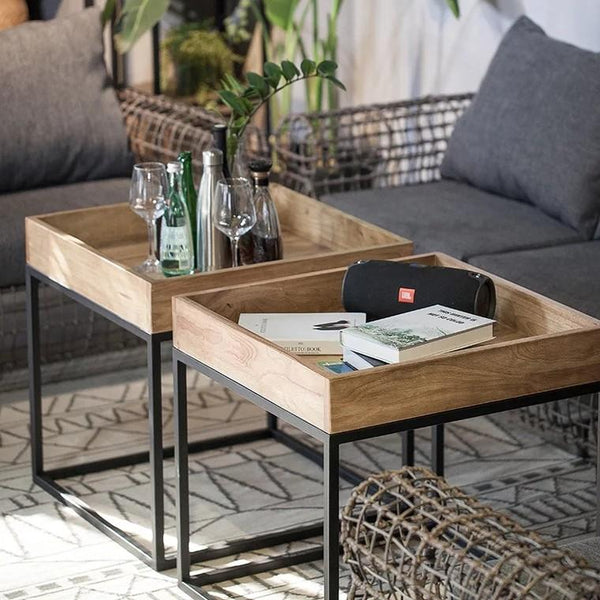 CROSBY Solid Wood Tray Coffee Table