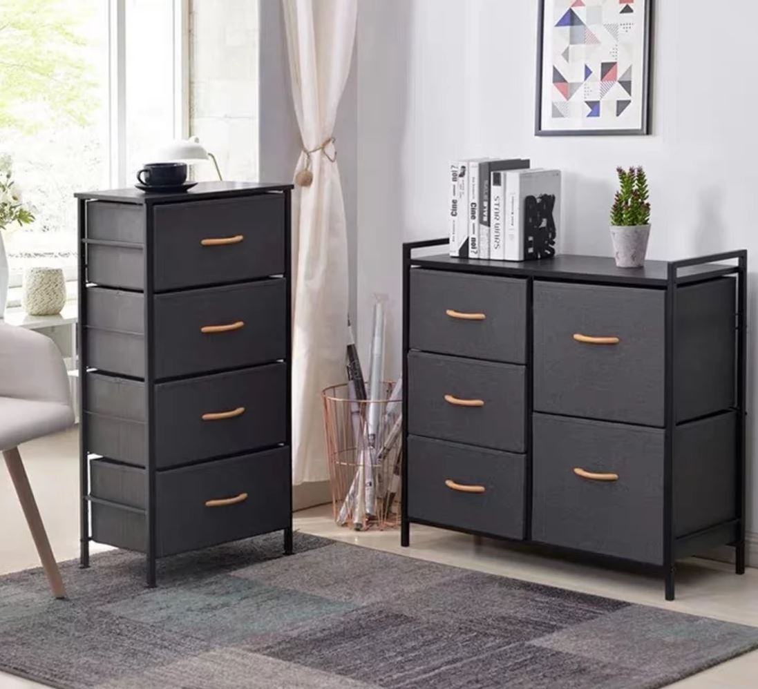 CASEY Fabric Chest of Drawers
