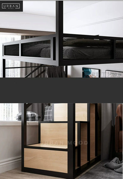 COBALT Industrial Loft Bed