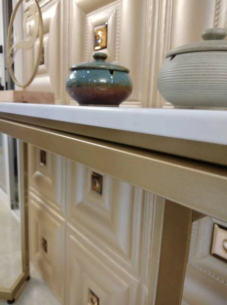 CRISTAL Modern Marble Hallway Console