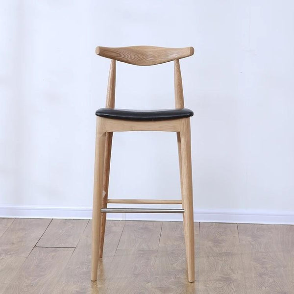 DANISH Bullhorn Solid Wood Bar Stool