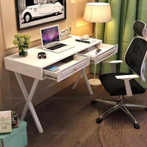 DELIA Modern Minimalist Study Table with Drawers