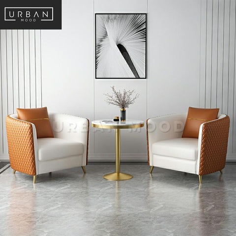DESILVA Modern Faux Leather Armchair