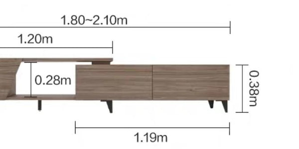 DION Minimalist Japanese Wooden TV Console