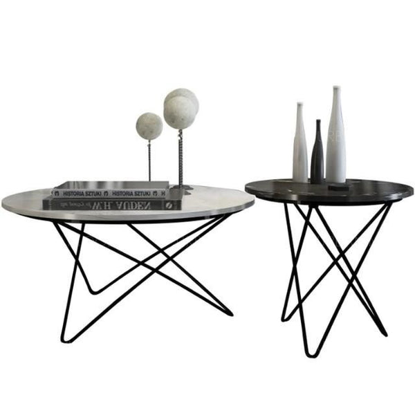DIOR Round Marble Coffee Table Set