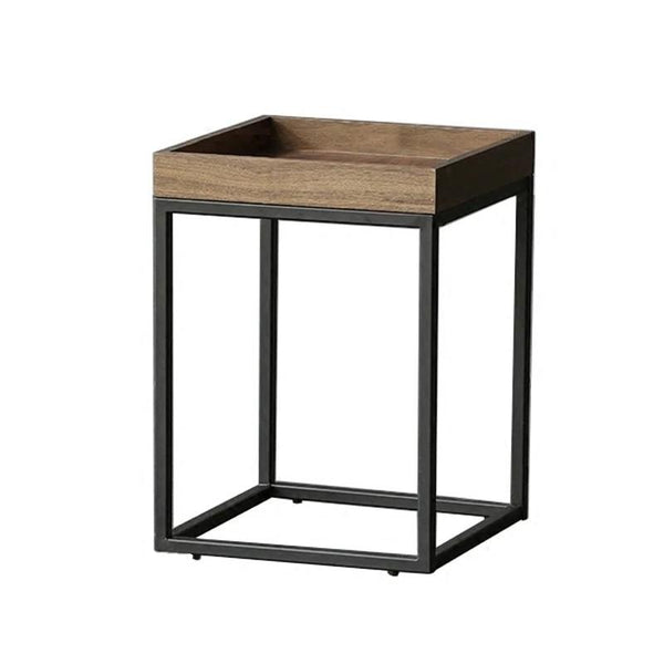 DRAKE Rustic Dark Walnut Side Table
