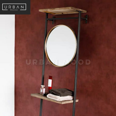 DEYN Modern Industrial Ladder Rack & Mirror