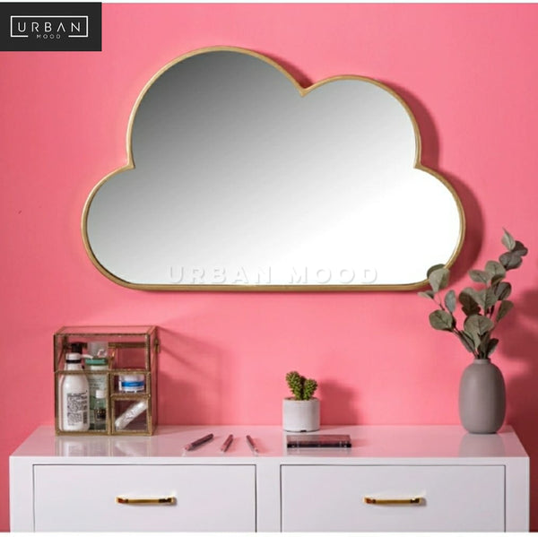 DRIZZLY Modern Vanity Cloud Wall Mirror