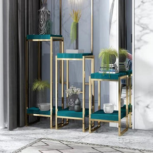 ELOISE Modern Chrome Gold Display Stand