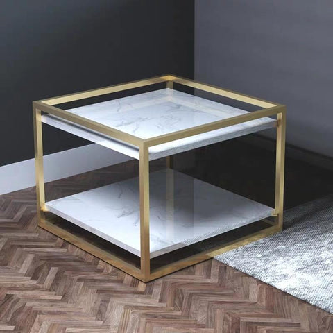 ERNEST Contemporary Marble Side Table