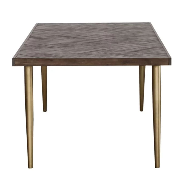 ELODIA Herringbone Acacia Dining Table