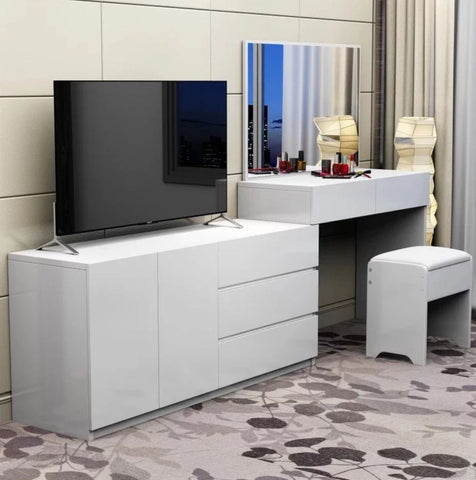 FELICITY Modern TV Console Vanity Cabinet