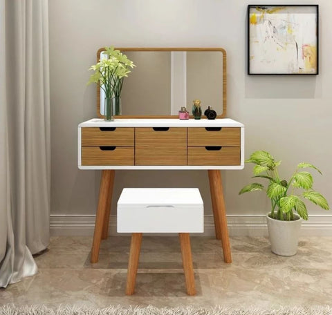 FYONNE Modern Vanity Storage Table Set