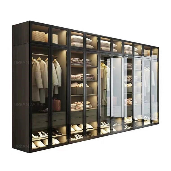 GLADYS Modern Glass Wardrobe
