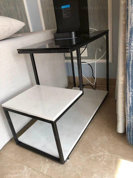 GLOW Modern Glass Top LED Side Table