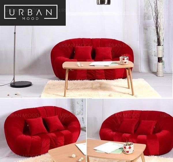 HANSEL Velvet Sofa Armchair