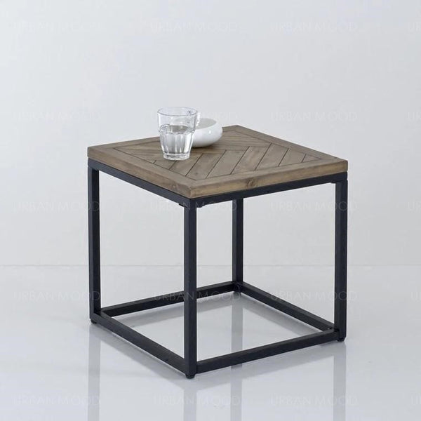 HENDRIX Solid Wood Herringbone Coffee Table