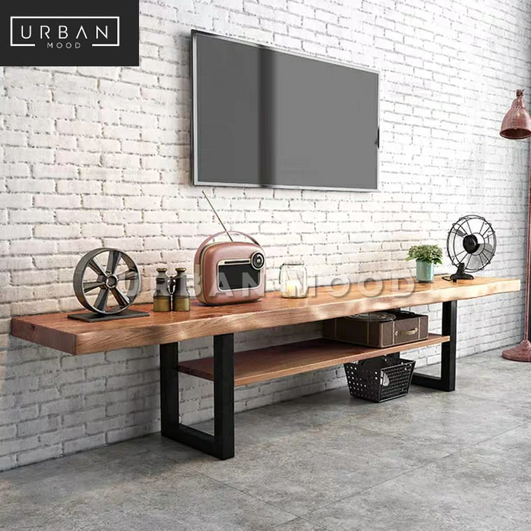HADLEY Rustic Solid Wood TV Console