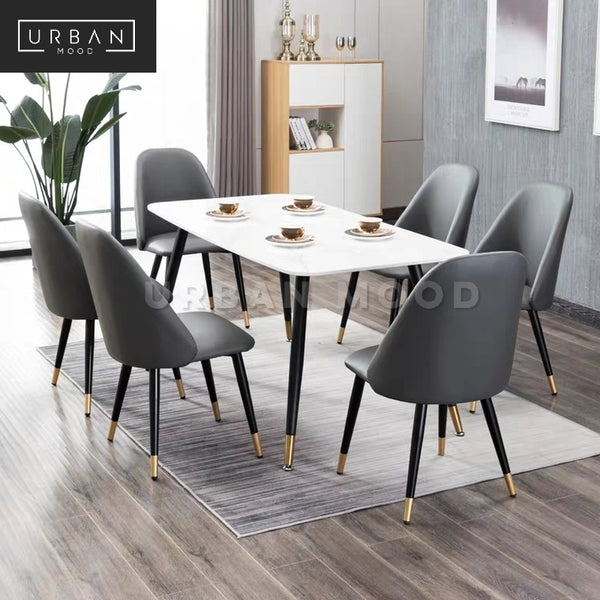 SHALE Modern Faux Leather Dining Chair