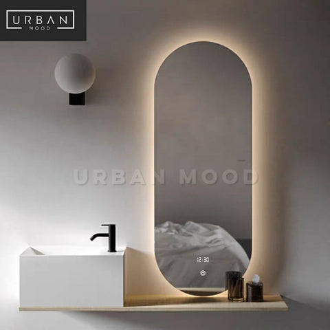 GLIDE Oval LED Wall Mirror