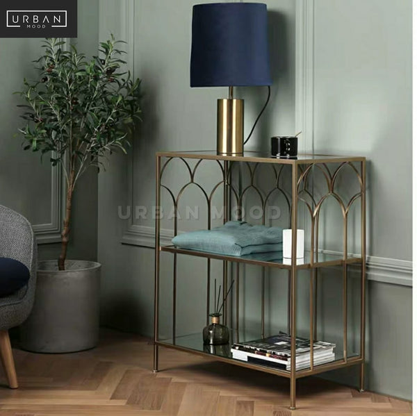 BRINA Accent Brass Side Table