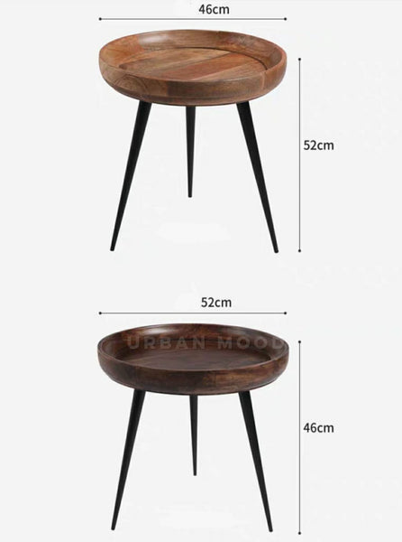 GROUND Rustic Round Coffee Table
