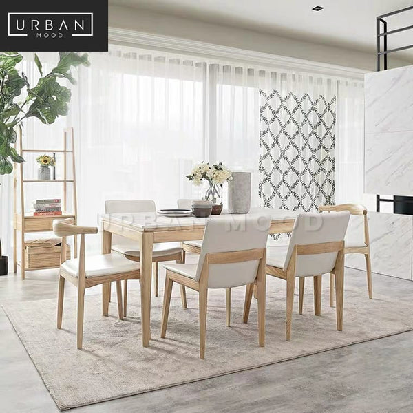 MARON Scandinavian Marble Dining Table