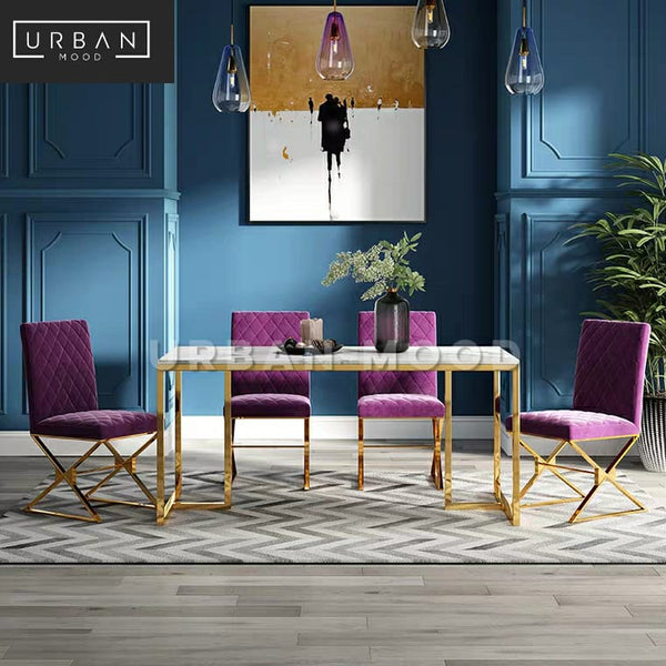 AURIS Modern Marble Dining Table & Chairs