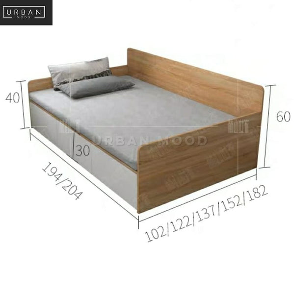 COBY Modern Storage Bed