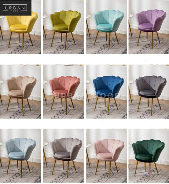 LOTUS Modern Velvet Petal Chair