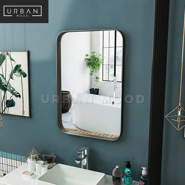 ALASTAIR Modern Stainless Steel Wall Mirror