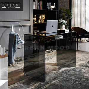 LUCENT Minimalist Glass Work Table