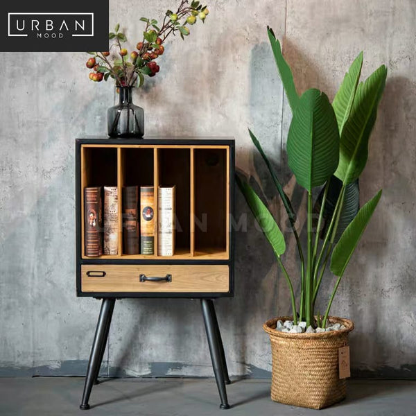 COLUMN Industrial Solid Wood Side Table