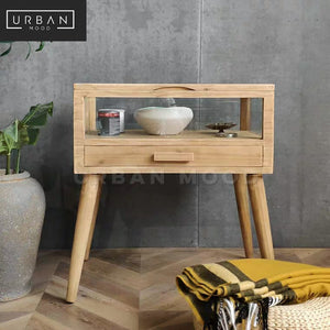 VICAR Rustic Solid Wood Side Table