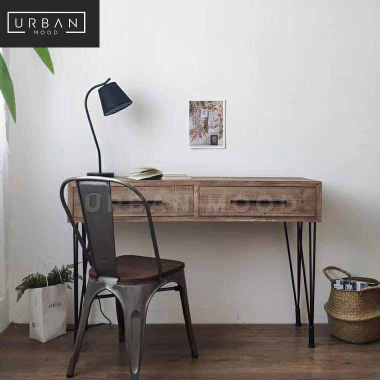 MURRAY Industrial Solid Wood Study Table