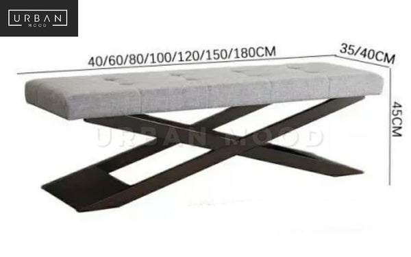 CANTER Industrial Fabric Entryway Bench