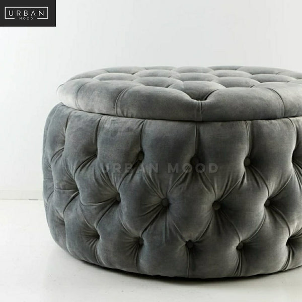 KIMBLE Victorian Tufted Storage Ottoman