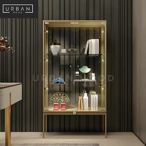 IRIDIUM Modern Glass Display Cabinet