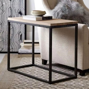 JAMES Rustic Ultra Slim Wooden Side Table