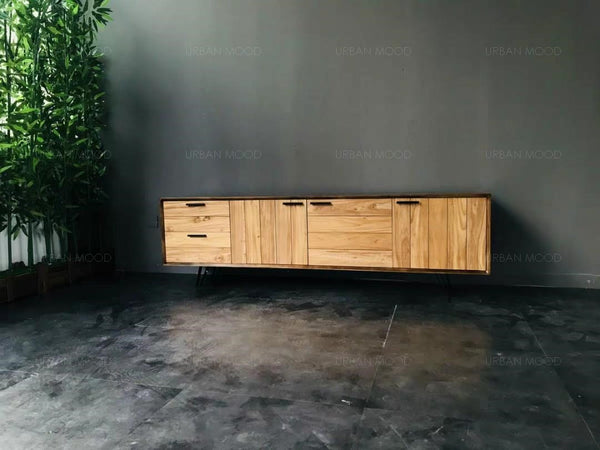 JAVIER Industrial Solid Wood TV Console