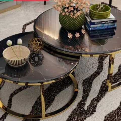 JAY Modern Marble Round Coffee Table