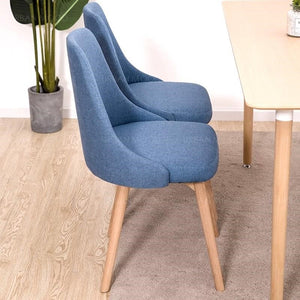 JIN Minimalist Japanese Fabric Dining Office Chair